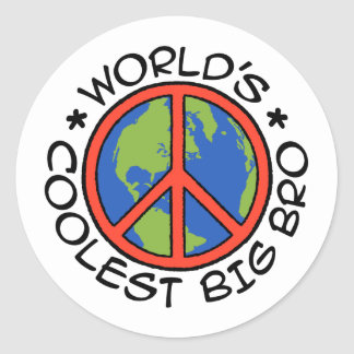World's Coolest Big Brother Classic Round Sticker
