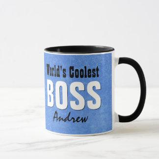 World's Coolest BOSS Blue Grunge Custom Name V21C