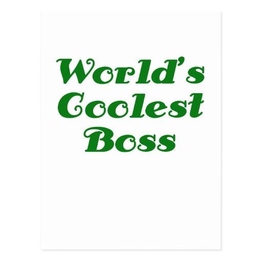 Worlds Coolest Boss Post Card