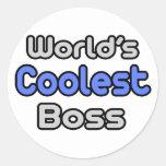 World's Coolest Boss Round Sticker