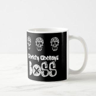 World's Coolest BOSS Zebra Skulls V07B Basic White Mug