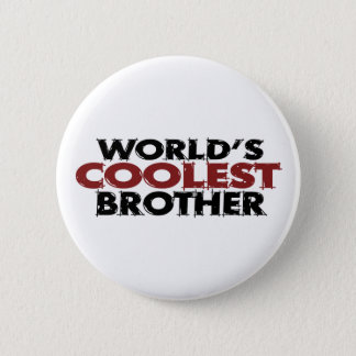 Worlds Coolest Brother 6 Cm Round Badge