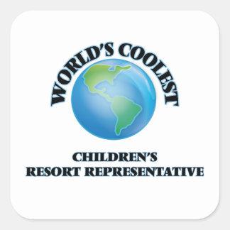 World's coolest Children's Resort Representative Stickers