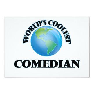 "World's coolest Comedian 5"" X 7"" Invitation Card"