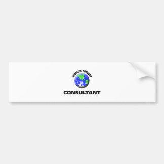World's Coolest Consultant Bumper Sticker