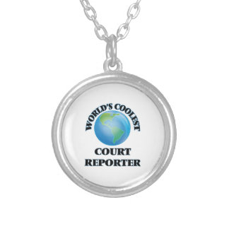 World's coolest Court Reporter Silver Plated Necklace