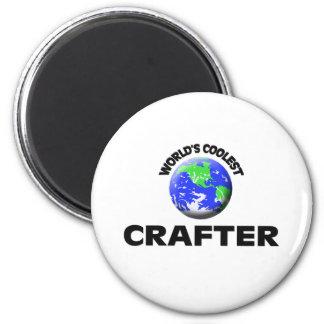 World's Coolest Crafter Refrigerator Magnet