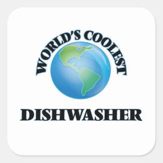 World's coolest Dishwasher Square Sticker