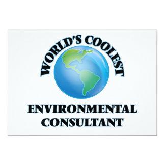 "World's coolest Environmental Consultant 5"" X 7"" Invitation Card"