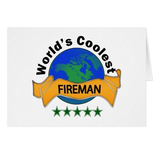 World's Coolest Fireman Cards