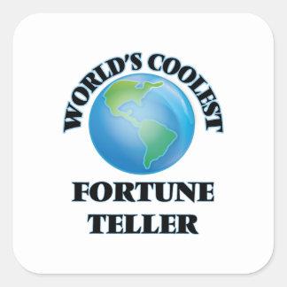 World's coolest Fortune Teller Square Sticker
