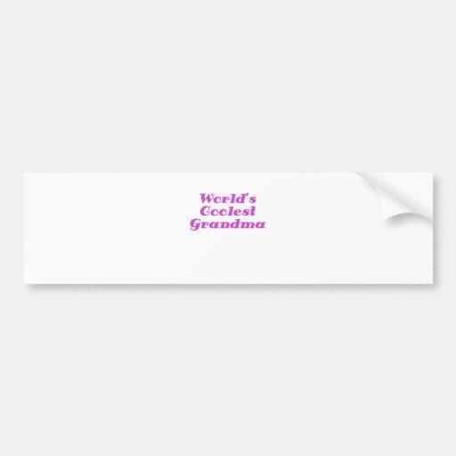 Worlds Coolest Grandma Bumper Sticker