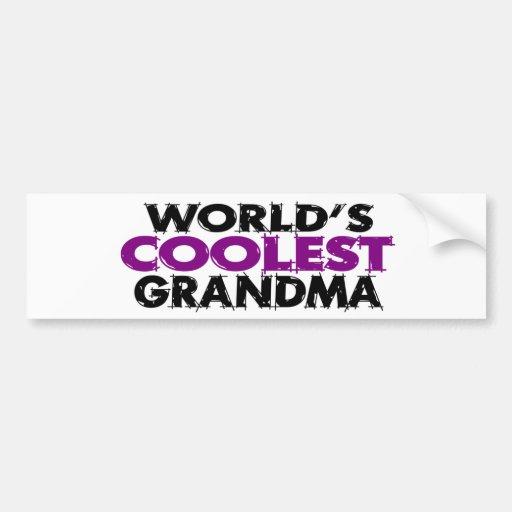Worlds Coolest Grandma Bumper Stickers