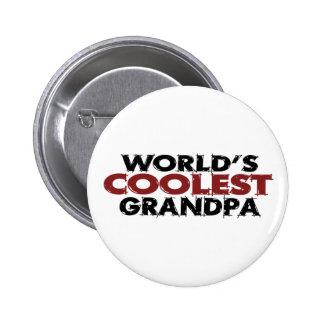 Worlds Coolest Grandpa 6 Cm Round Badge