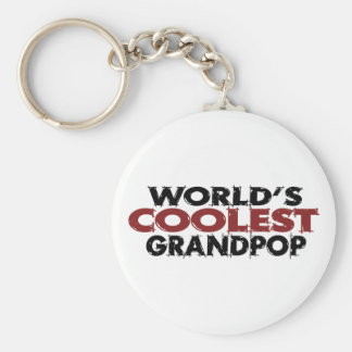 Worlds Coolest Grandpop Key Ring