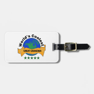 World's Coolest Great Grandma Luggage Tag