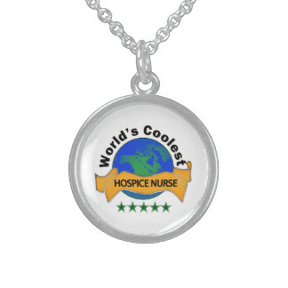 World's Coolest Hospice Nurse Sterling Silver Necklace