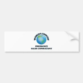 World's coolest Insurance Sales Consultant Bumper Sticker