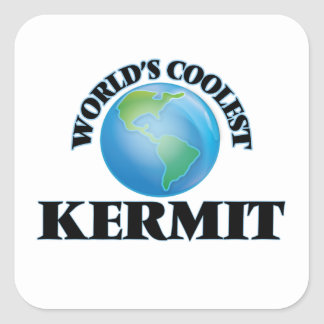 World's Coolest Kermit Square Sticker