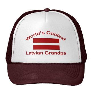 World's Coolest Latvian Grandpa Cap