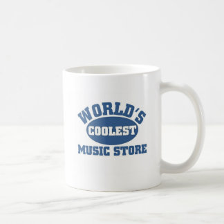 World's Coolest Music store Basic White Mug