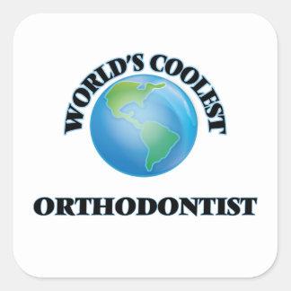 World's coolest Orthodontist Square Sticker