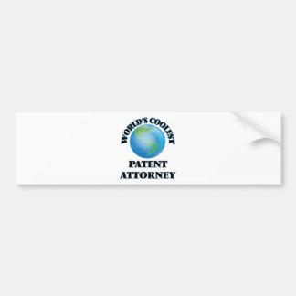 World's coolest Patent Attorney Bumper Stickers