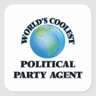 World's coolest Political Party Agent Sticker