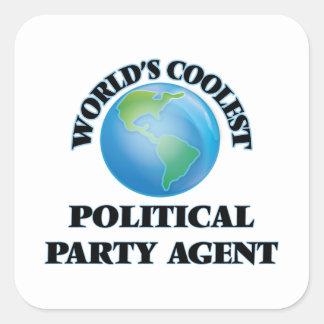 World's coolest Political Party Agent Sticker