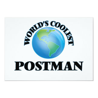"World's coolest Postman 5"" X 7"" Invitation Card"