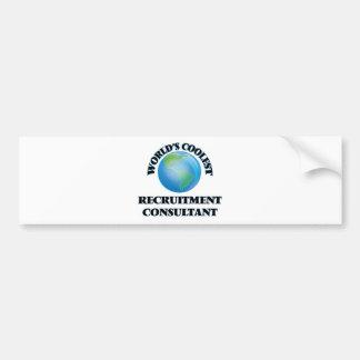 World's coolest Recruitment Consultant Bumper Sticker