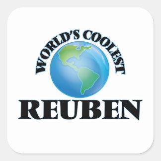 World's Coolest Reuben Square Stickers