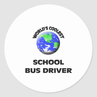 World's Coolest School Bus Driver Stickers