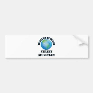 World's coolest Street Musician Bumper Sticker