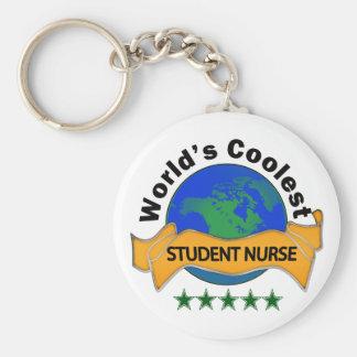 World's Coolest Student Nurse Basic Round Button Key Ring