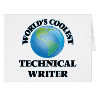 World's coolest Technical Writer Cards