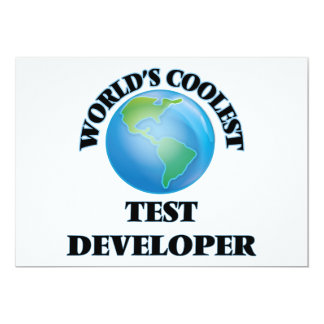 "World's coolest Test Developer 5"" X 7"" Invitation Card"