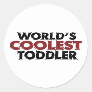 Worlds Coolest Toddler Classic Round Sticker