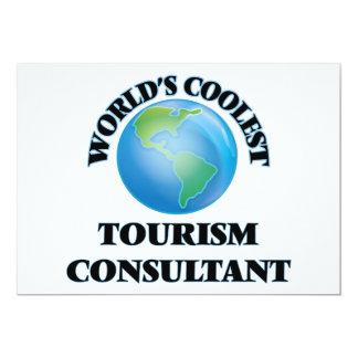 "World's coolest Tourism Consultant 5"" X 7"" Invitation Card"