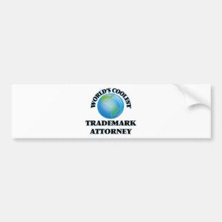 World's coolest Trademark Attorney Bumper Sticker