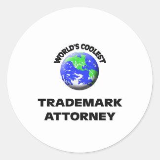 World's Coolest Trademark Attorney Round Stickers