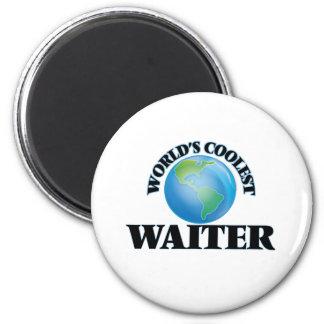 World's coolest Waiter Refrigerator Magnets