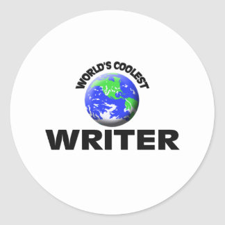 World's Coolest Writer Stickers