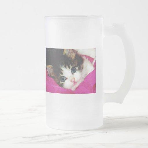 Worlds Cutest Kitten Frosted Glass Mug