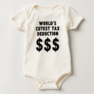 World's Cutest Tax Deduction Baby Bodysuit