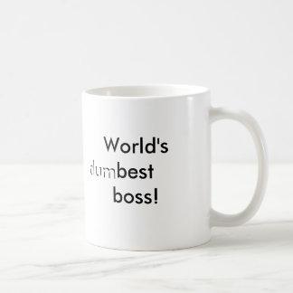 World's (dum)best boss mug