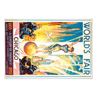 Worlds Fair Chicago 1933 Advertisement Poster
