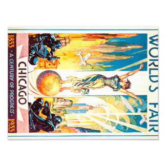 Worlds Fair Chicago 1933 Advertisement Poster Photograph