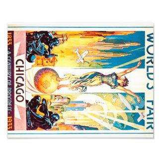 Worlds Fair Chicago 1933 Advertisement Poster Photographic Print