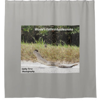 World's Fattest Rattlesnake shower curtain